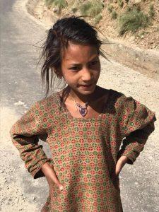 Girl on road Jumla