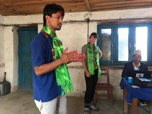 Nahakul and Nat lecturing