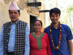Nahakul and his parents